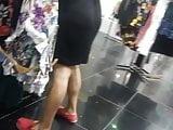 Fat booty spanish lady upskirt