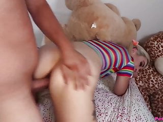 Blonde Big Cock Hd Videos video: Pigtails and Rainbows - Petite Teen Fuck