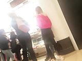 Two College Girls in Yoga Pants Voyeured at the Mall
