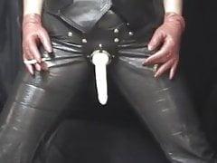 Angel Smoking Strap On Dildo Leather
