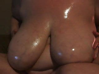 Nipples Bbw Massage video: Huge pierced boobs oiled
