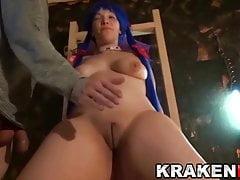 Cosplay hot girl in casting porno a casa