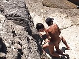 Couple have outdoor sex near water