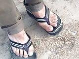 ( vid4 )wearing cumed sandals