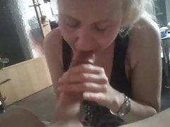 Granny Working On Huge Dick