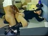 Retro Brunette Gets Her Ass Skewered