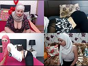 Hijabi Camgirl Quartet 2