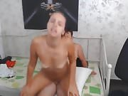 Chubby Dude Fucking Her Sexy Babe Roommate