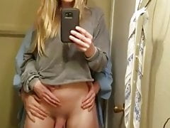 Gorgeous She-creature Takes Internal Ejaculation From Her Boyfriend In The Bathroom.