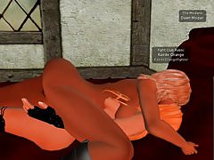 Lesbian 3D Kissing naked