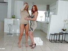 Eva Berger und Nikki Dream haben einen Dreier mit Sperma
