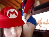 Lesbian Mario Girls Having Fun - Sexy Cosplay Outfits webcam