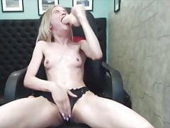Brutal Blond Deepthroat Gagging Sloppy Facefuck Whore