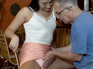 Blowjob Brunette Mature video: VIP4k. Horny chick cheats on her boyfriend with his mature
