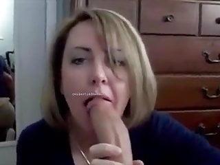 Amateur Blonde Blowjob video: Den dicken Schwanz ihres Stiefsohnes gelutscht