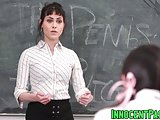 Audrey Noir and Rose Darling drilled by horny teacher