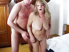 Chubby Granny Share Young Cock With Her Friend