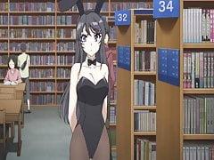 Hentai BunnyGirl in der Bibliothek
