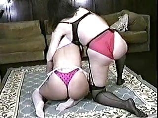 red panties natural wedgie catfight