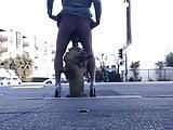 RobertaSlutCd lets a fire hydrant fuck her in public