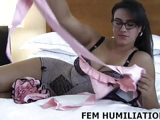 Bdsm Femdom Pov video: I will make you wear these pink panties