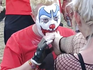 Bdsm Femdom Foot Fetish video: Foot Worshiping by FlipFlop The Clown