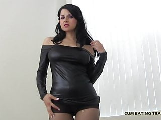 Femdom Cumshot Cum In Mouth video: My sexy voice will get you rock hard CEI