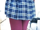 Plaid Skirt Stockings and Tights