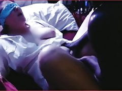 Blindfolded wife fucked by BBC and hubby watch