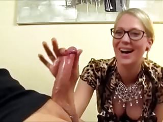 Cumshots German video: Two Finger Handjob