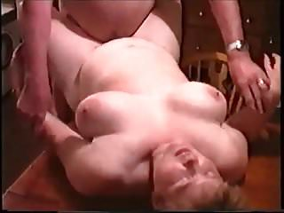 Amateur Bbw Cuckold video: Mature BBW Fucked by Husbands Friend on Kitchen Table