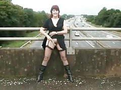 Flashing On A Motorway Bridge