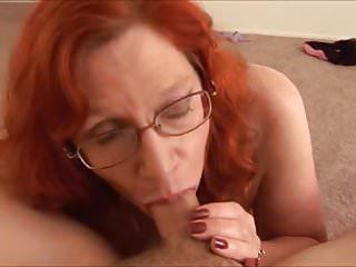 Redhead mature hand&blowjob