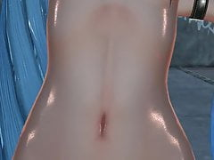 MMD Blue Hair Cutie Durchbohrte Nippel Sex Toys Anal GV00185
