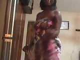 My African girlfriend dancing sexy