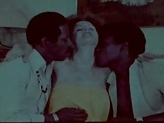 Vintage interracial black cock threesome
