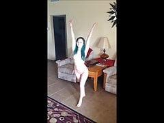 Haynahstasteful sideboob topless cartwheels