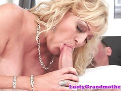 Bigtits gilf pounded by her younger bf