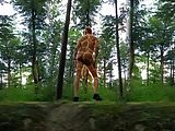 0065 Video montage giraffe Body painting naked outdoor 4all
