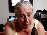 Granny deepthroats and pleasures BBC in POV