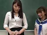 Asian schoolgirl takes charge over teacher