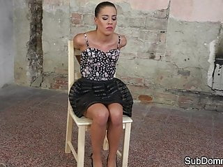 Bdsm Small Tits Bondage video: Submissive euro gets tiedup and dominated
