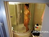 Tattooed Girl in the Shower