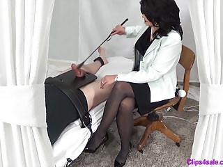 Handjobs Bdsm movie: Mistress CBT Punishment