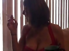 me Eiizbeth having a marbroro light-Homemade Amateur Video