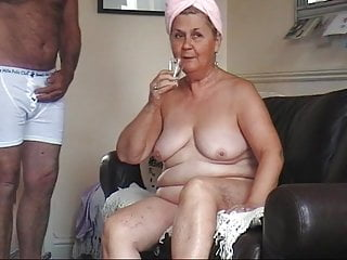 Small Tits Striptease Granny video: 61 year old granny schoolgirl strips naked and drinks cum