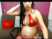 Pregnant mexican Talking with husband