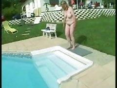 bbw dojrzały basen