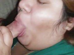 Texas BBW Oral Esme sucking cock