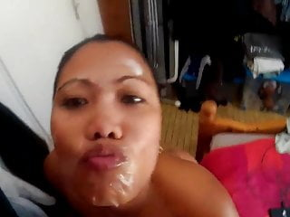 Asian Blowjob Big Cock video: Filipina cumslut loves milking a thick cock
